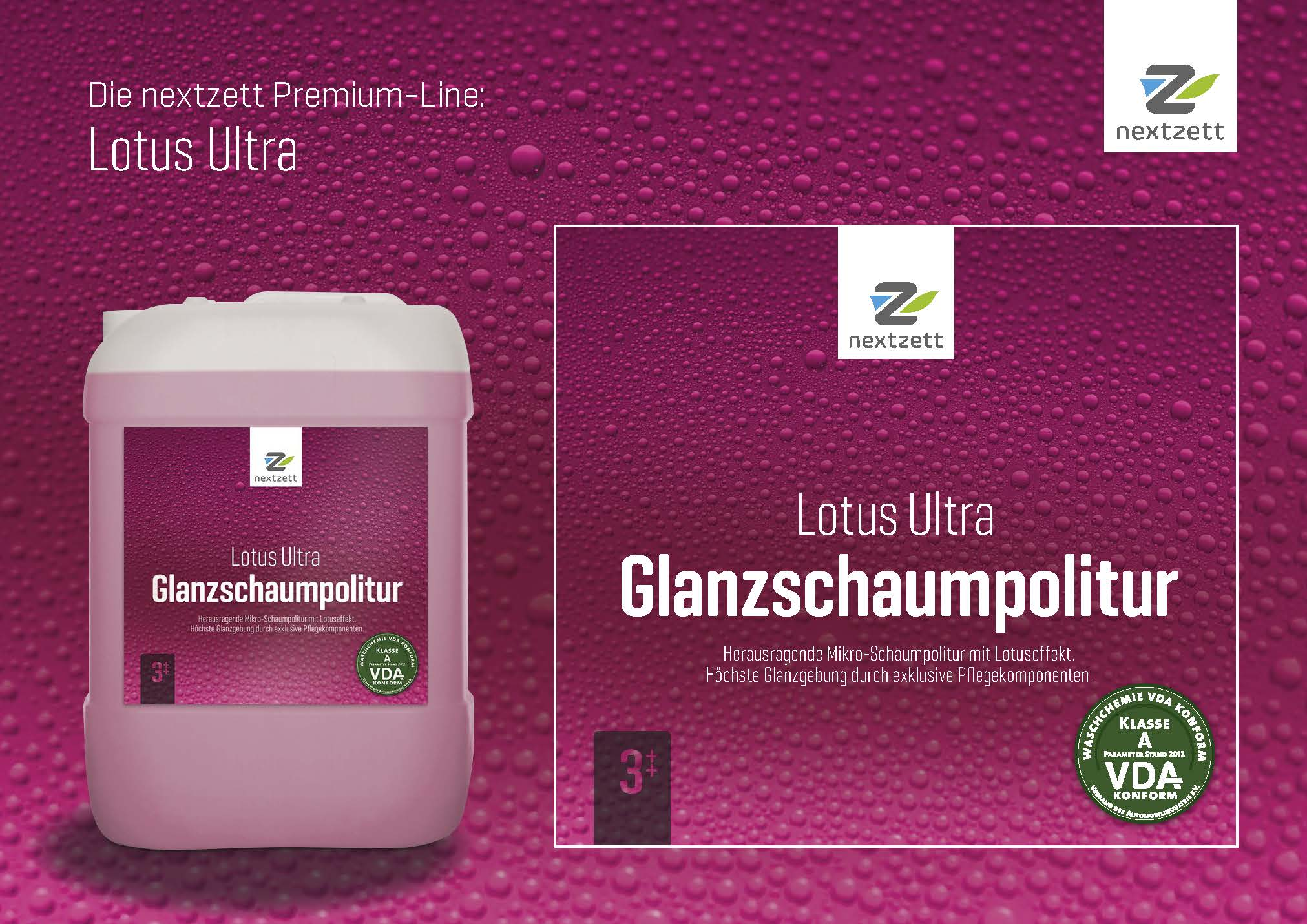 Nextzett Lotus Ultra Glanzschaumpolitur - Flyer