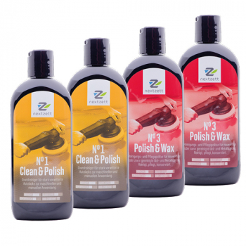 2x Nextzett No1 Clean & Polish 250ml + 2x Nextzett No3 Polish & Wax / Metallic Polish & Wax 250ml